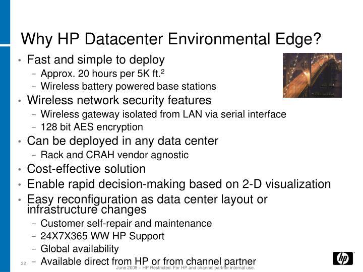 Why HP Datacenter Environmental Edge?