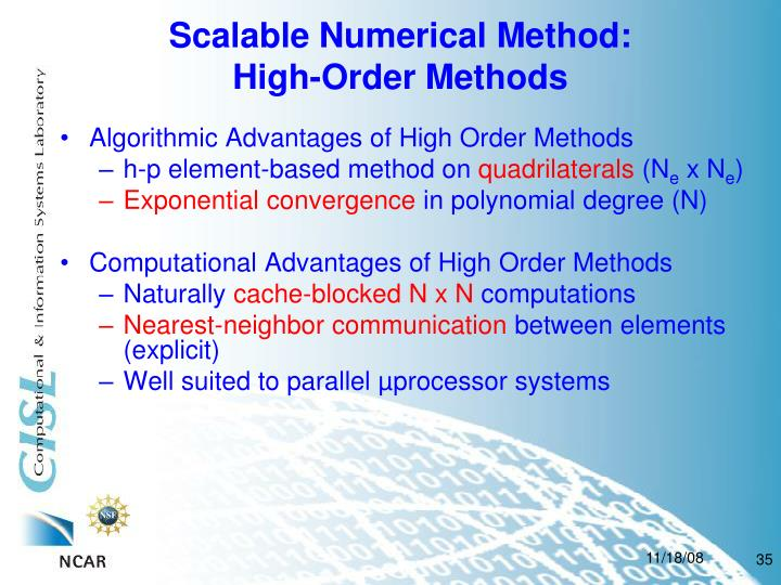 Scalable Numerical Method: