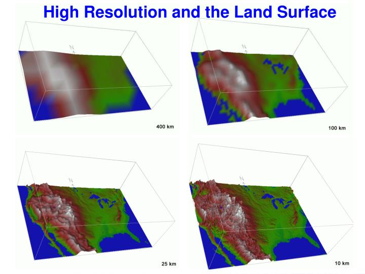 High Resolution and the Land Surface