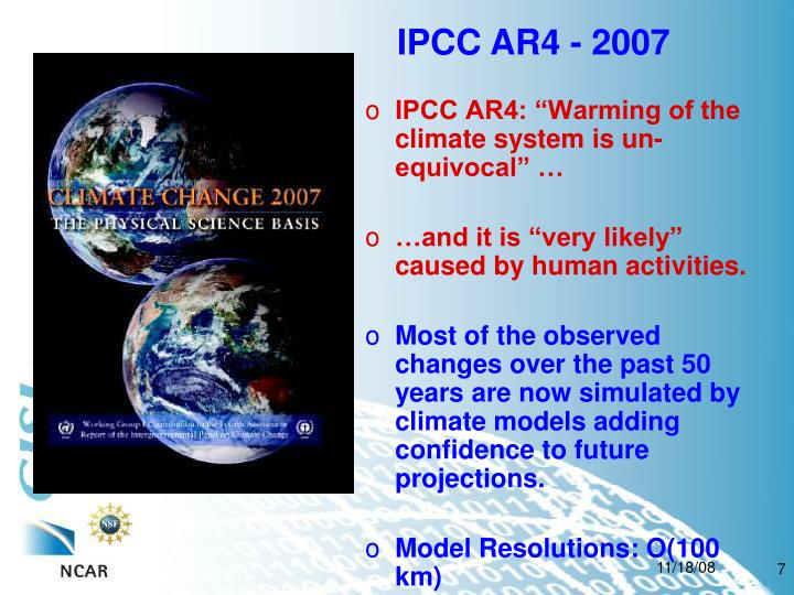 IPCC AR4 - 2007