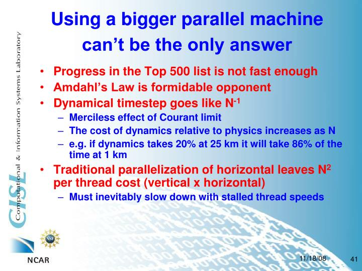 Using a bigger parallel machine