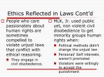 ethics reflected in laws cont d