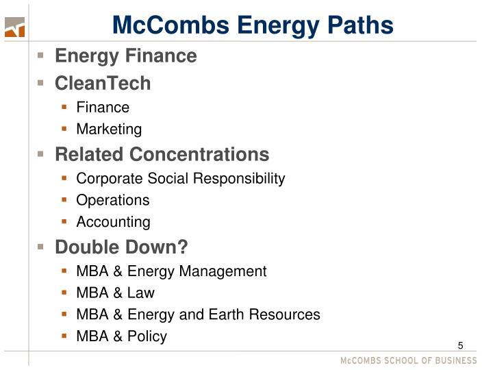 McCombs Energy Paths