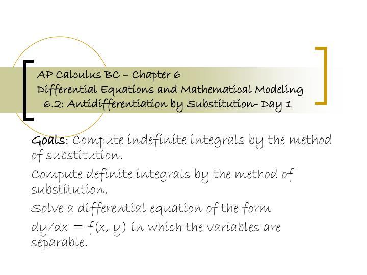 AP Calculus BC – Chapter 6