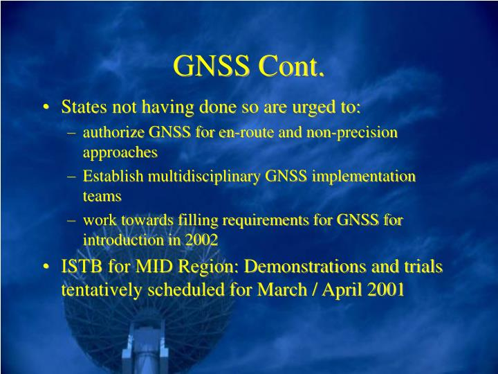 GNSS Cont.