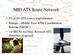mid ats route network