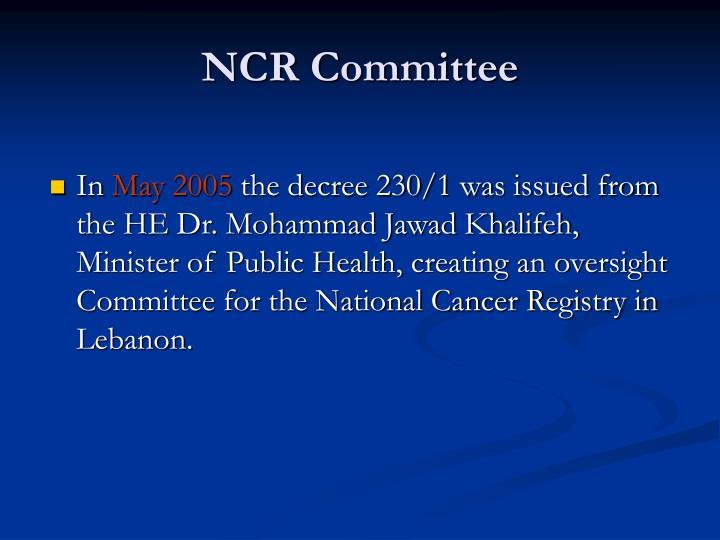 NCR Committee