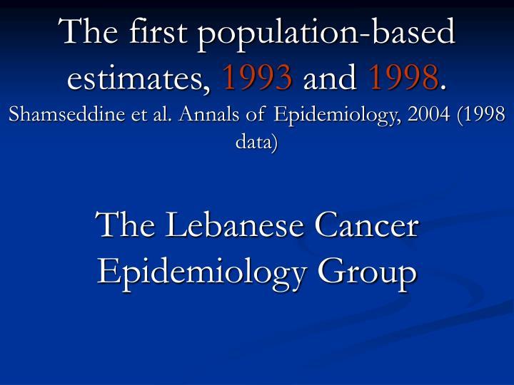 Cancer incidence in postwar Lebanon: