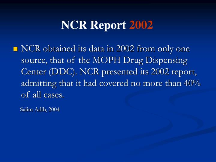 NCR Report