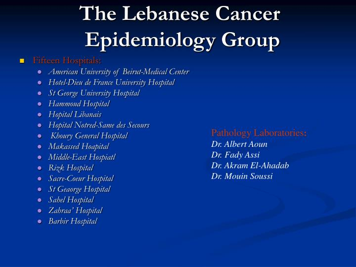 The Lebanese Cancer
