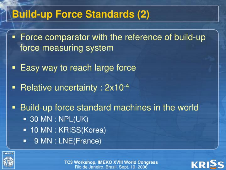 Build-up Force Standards (2)