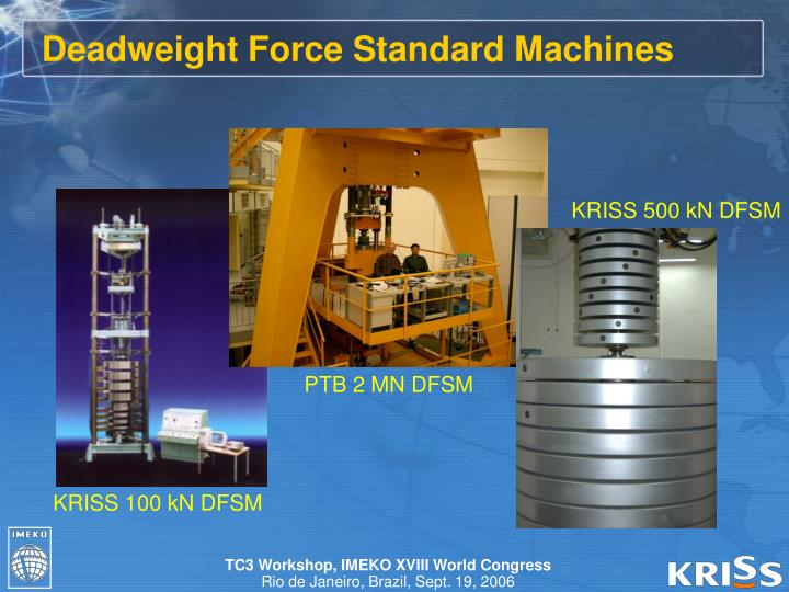 Deadweight Force Standard Machines
