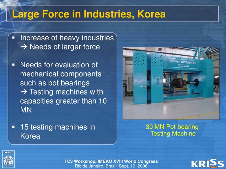 Large Force in Industries, Korea