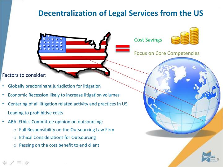 Decentralization of Legal Services from the US