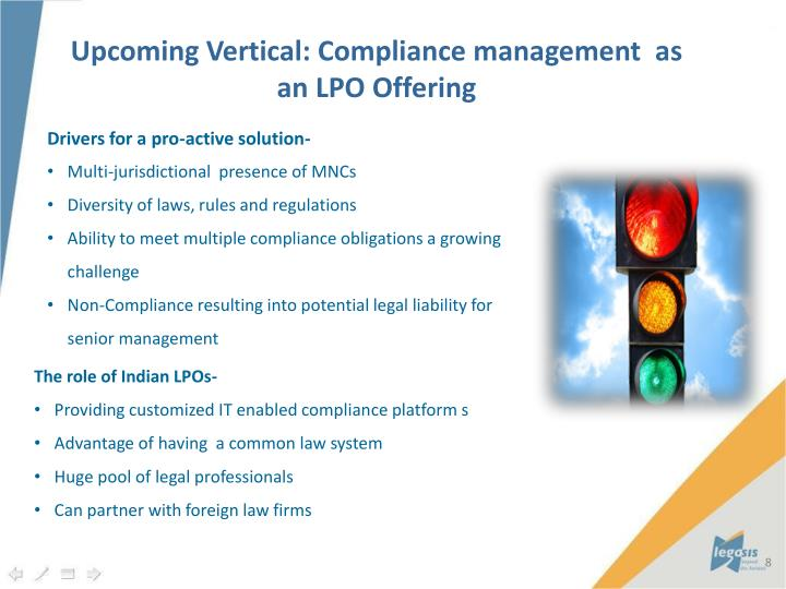 Upcoming Vertical: Compliance management  as an LPO Offering