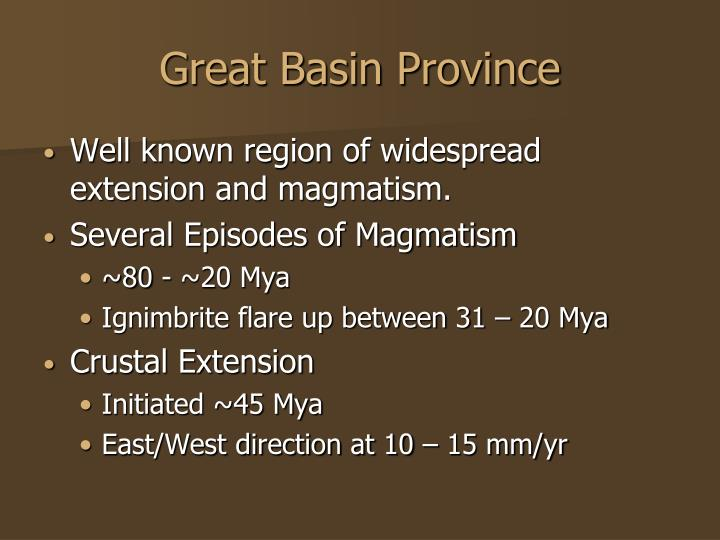 Great Basin Province