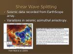 shear wave splitting
