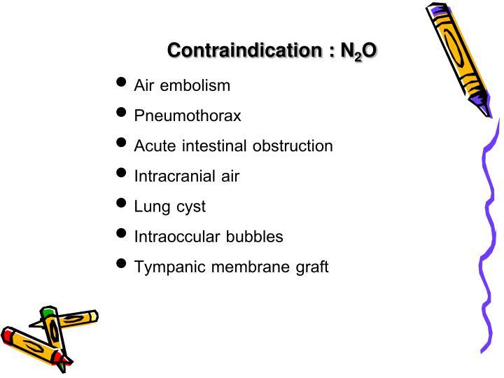 Contraindication : N