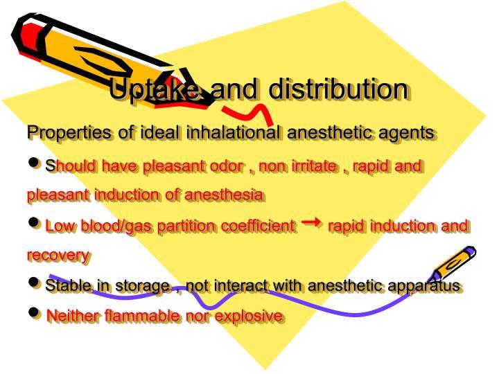 Uptake and distribution