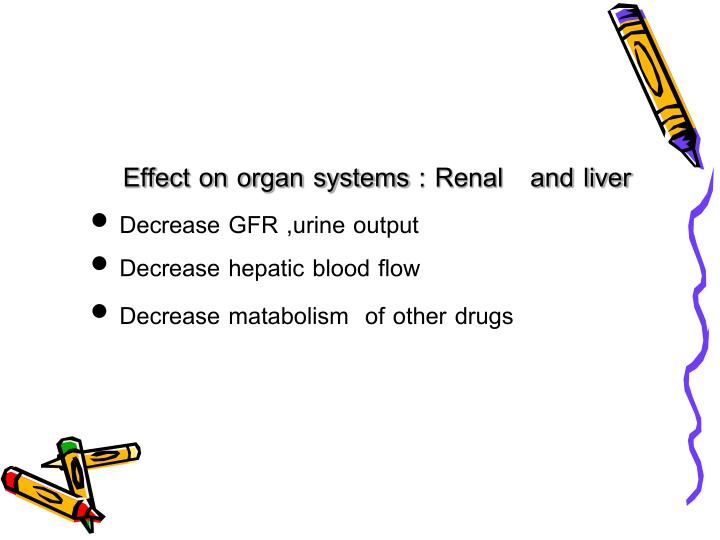 Effect on organ systems