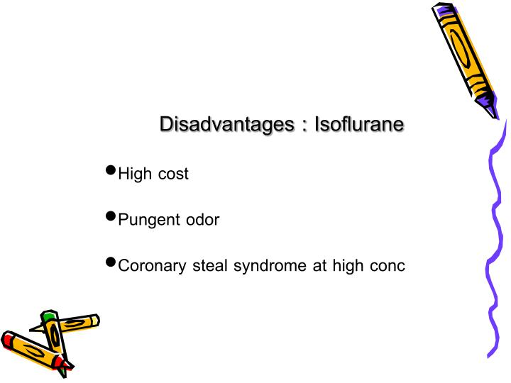 Disadvantages : Isoflurane