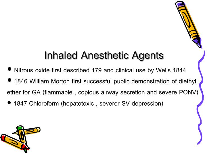 Inhaled Anesthetic Agents