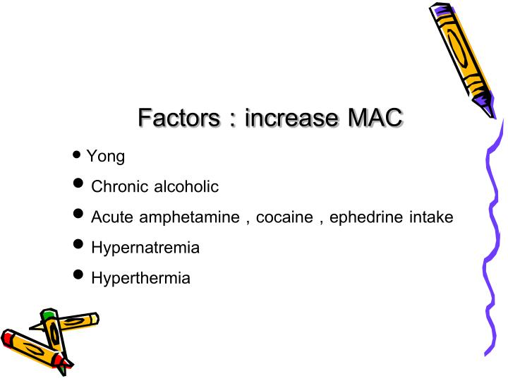 Factors : increase MAC