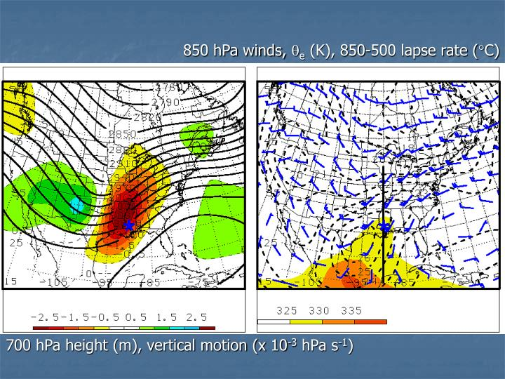 850 hPa winds,