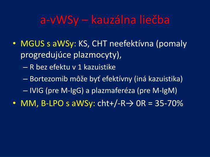 a-vWSy – kauzálna liečba