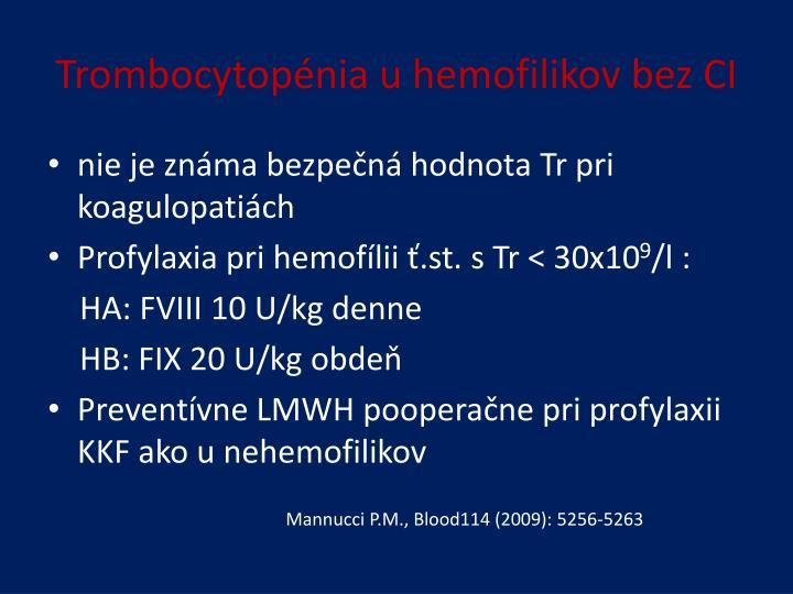 Trombocytopénia