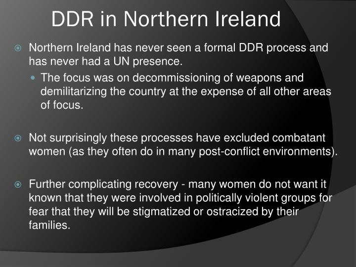 DDR in Northern Ireland