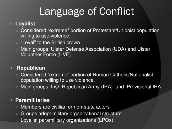 Language of Conflict