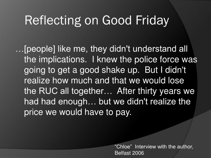 Reflecting on Good Friday