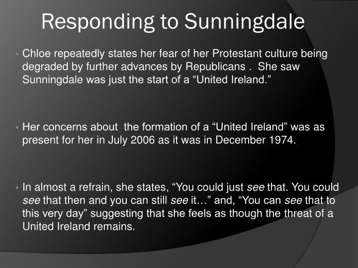Responding to Sunningdale
