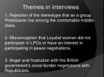 themes in interviews
