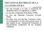 iniciativas recibidas de la lx legislatura