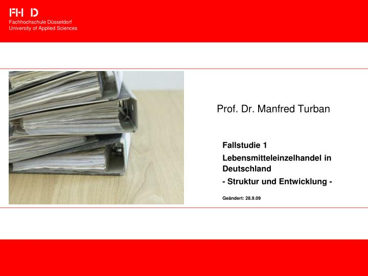 Prof dr manfred turban