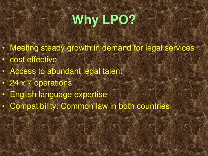 Why LPO?