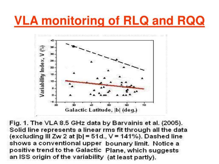 VLA monitoring of RLQ and RQQ