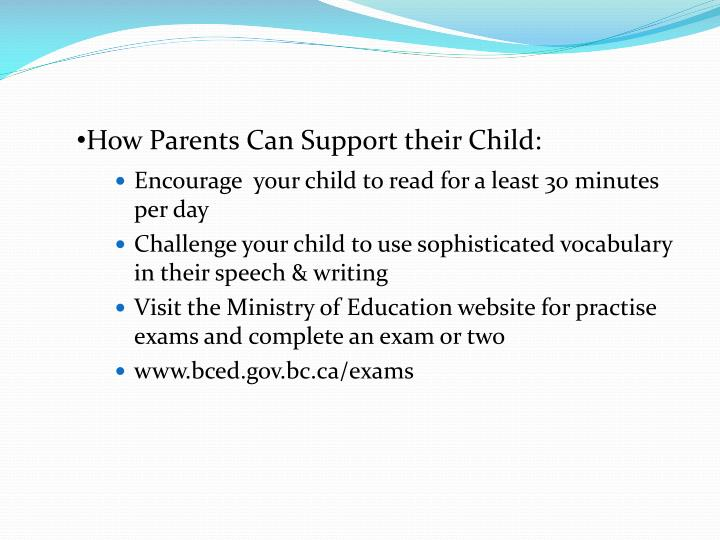 How Parents Can Support their Child: