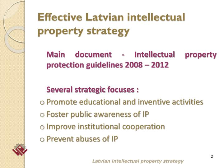 Effective latvian intellectual property strategy