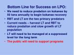bottom line for success on lpo