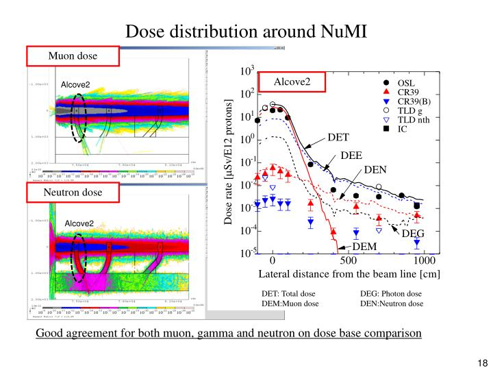 Dose distribution around NuMI