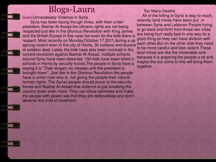 Blogs-Laura