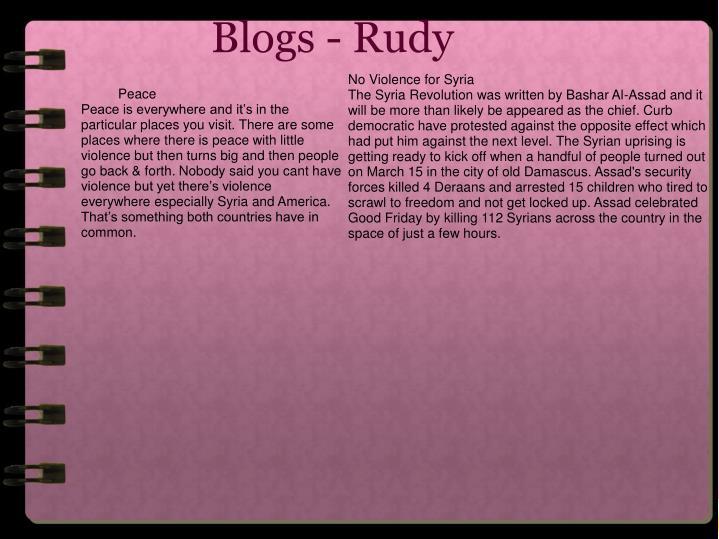 Blogs - Rudy