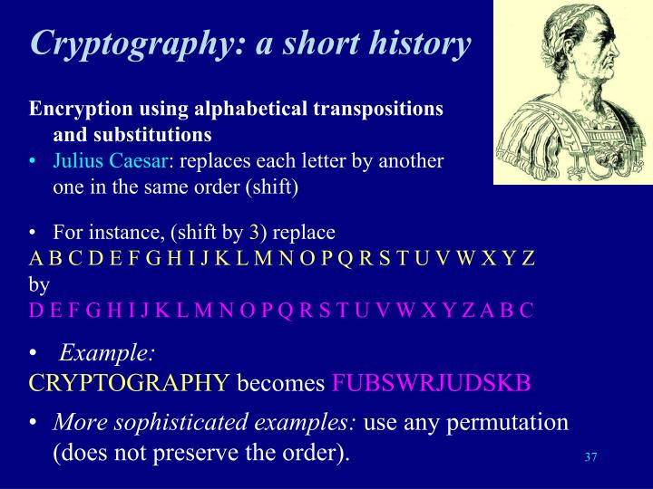 Cryptography: a short history