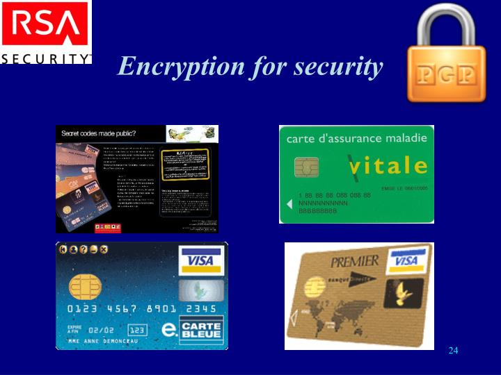 Encryption for security
