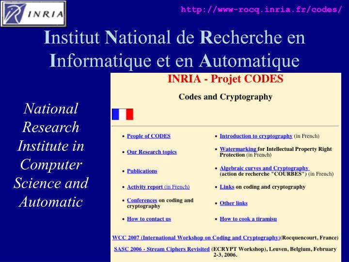 http://www-rocq.inria.fr/codes/