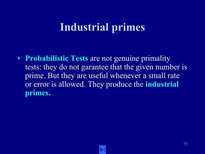 Industrial primes