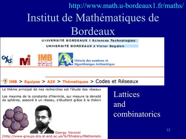 http://www.math.u-bordeaux1.fr/maths/